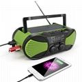 Solar crank dynamo radio usb