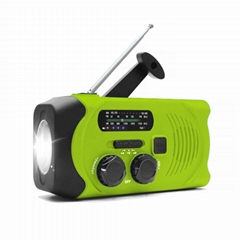 Portable Solar Dynamo Wind up Emergency Flashlight Powered Radio