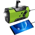 Hurricane Emergency Solar Hand Crank NOAA Weather Radio with phone charger