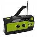 Solar Crank Crank Flashlight Radio 6 LED