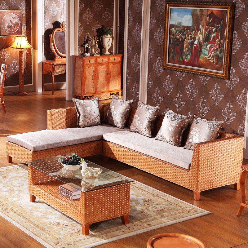Chinese Modern Rattan Wooden Home Indoor Furniture Living ...