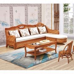 Hot Sale Modern Design Casual Rattan Wooden Furniture Sofa Bed