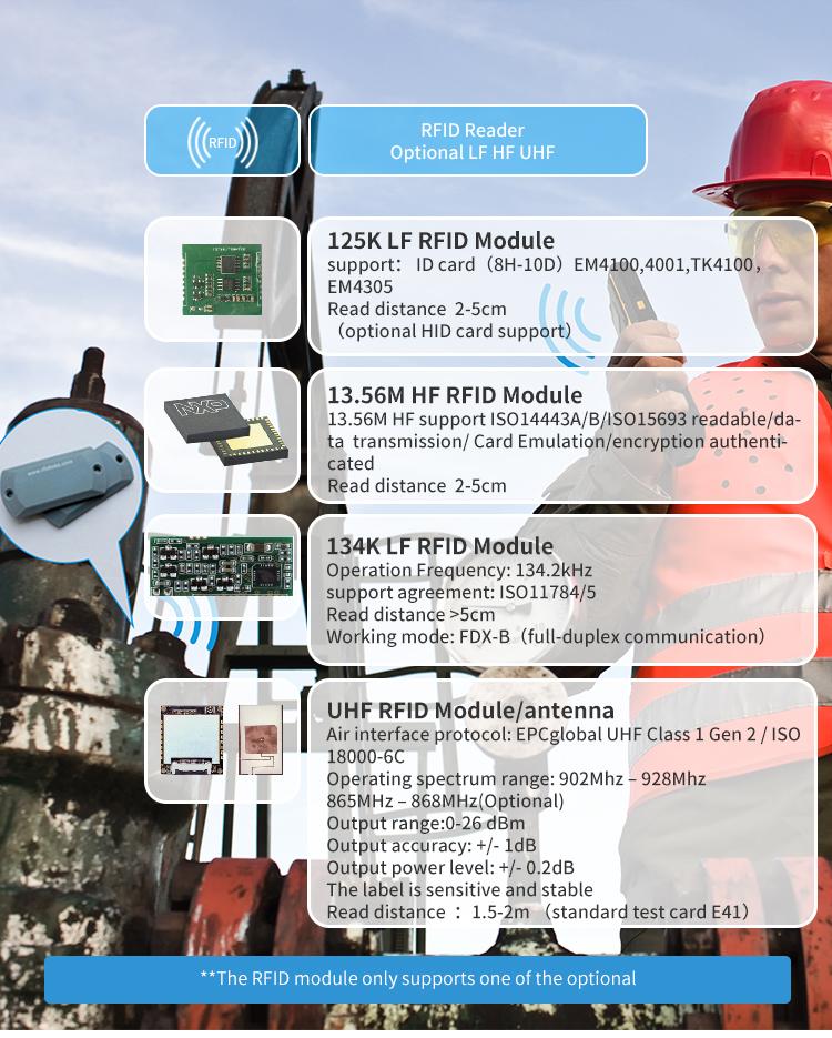 4.5inch PDA Optional NFC LF HF UHF RFID Barcode 2d scanner  industrial IP67 4