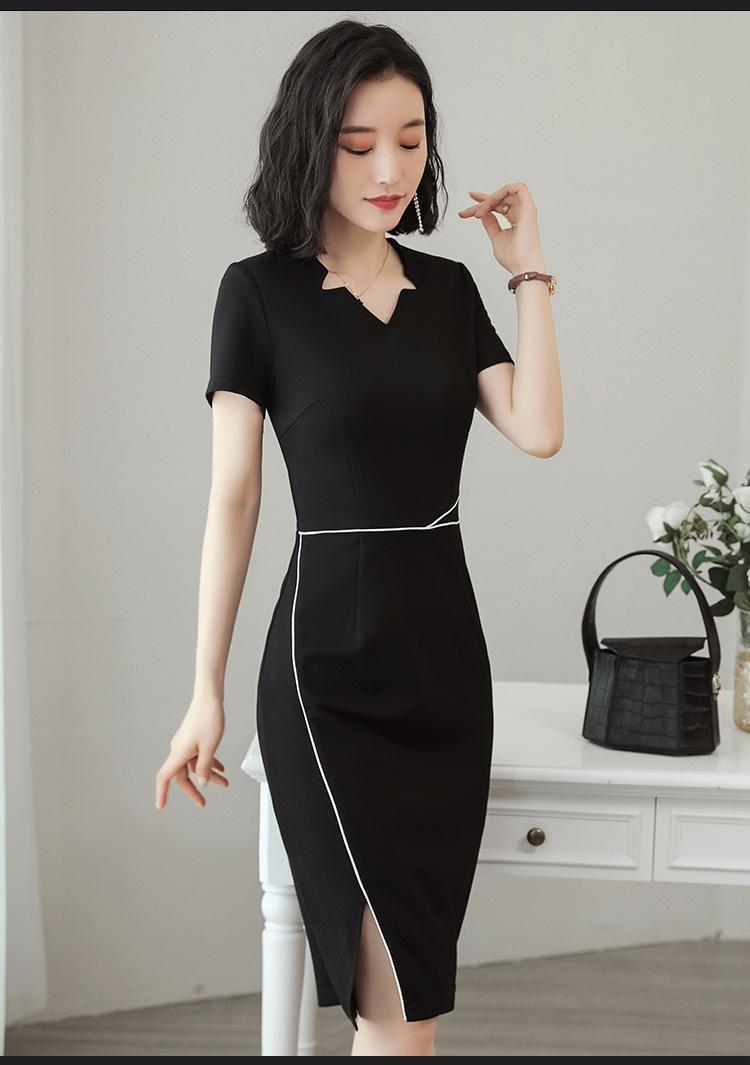 夏季職業女裝套裙修身商務職業連衣裙套裝 1