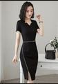夏季職業女裝套裙修身商務職業連