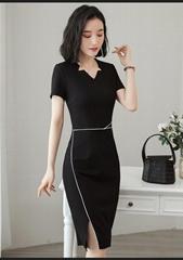 夏季職業女裝套裙修身商務職業連衣裙套裝