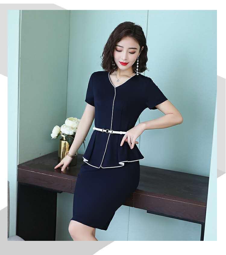 夏季職業女裝套裙修身商務職業連衣裙套裝 2