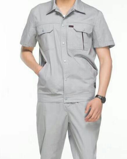 定做短袖工作服套装男女汽修服车间电焊服套装 1