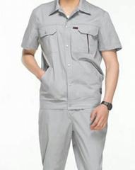 定做短袖工作服套装男女汽修服车间电焊服套装