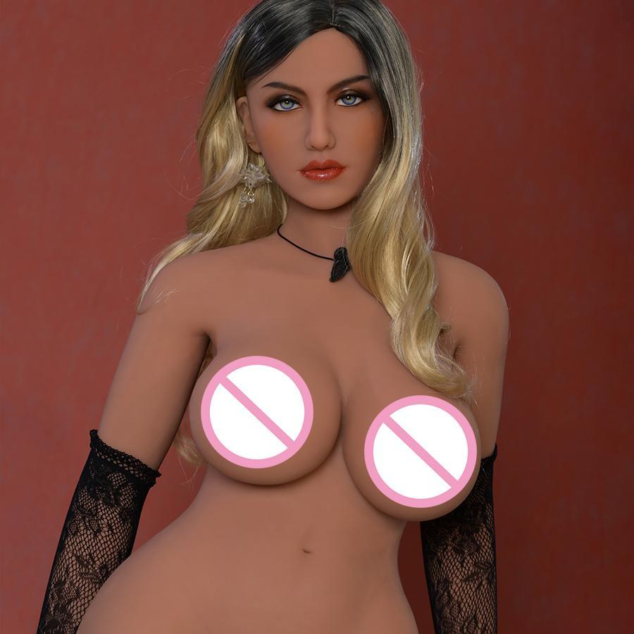6YE new love dolls 152cm fat woman tan skin big gel breast nice vagina 3 holes