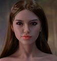 161CM silicone head love doll sex dolls for man brown wig nice hair XXX sex girl