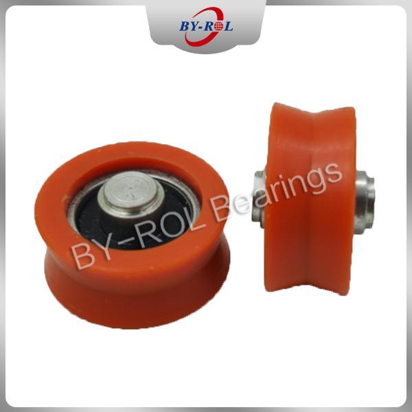 U Groove V groove roller for guide tracks Plastic bearing roller POM Nylon 1