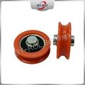 U Groove V groove roller for guide tracks Plastic bearing roller POM Nylon 2