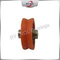 U Groove V groove roller for guide tracks Plastic bearing roller POM Nylon 4