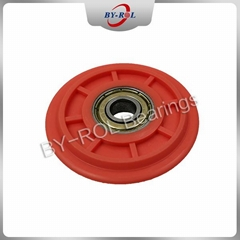 608zz 608rs rubber coated plastic bearings for sliding door window factory price