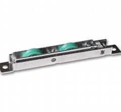Adjustable UPVC sliding door plastic roller with double wheels