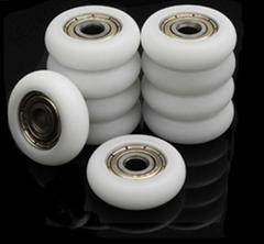 608 608zz nylon plastic roller wheel ball bearing ceramic ball plastic bearing