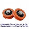POM Nylon Coated U/V Groove Plastic