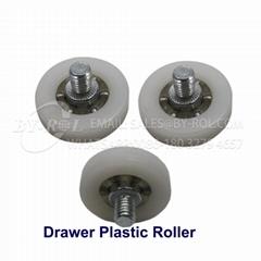 nylon roller bearings drawer roller wheels plastic sliding door roller