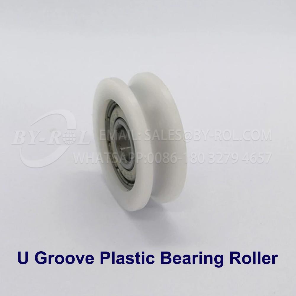White Nylon Plastic Bearing Roller Wheel for WIndow and Door Rollers 2