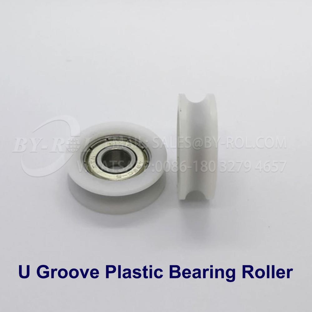 White Nylon Plastic Bearing Roller Wheel for WIndow and Door Rollers 3