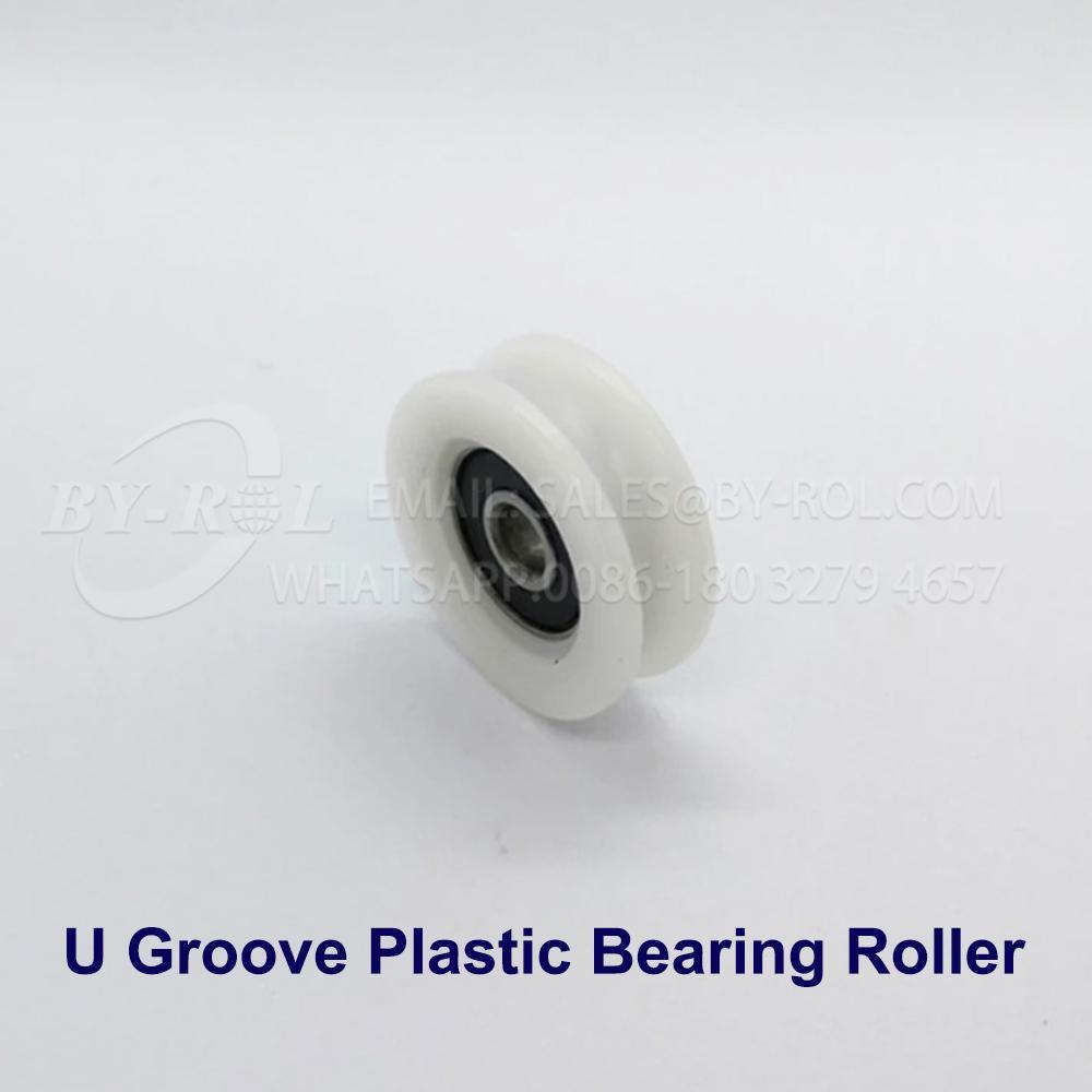 White Nylon Plastic Bearing Roller Wheel for WIndow and Door Rollers 4