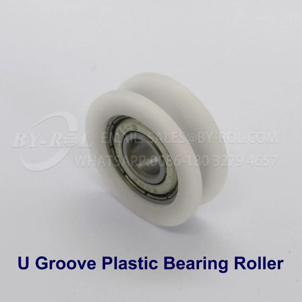 White Nylon Plastic Bearing Roller Wheel for WIndow and Door Rollers
