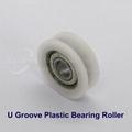 White Nylon Plastic Bearing Roller Wheel