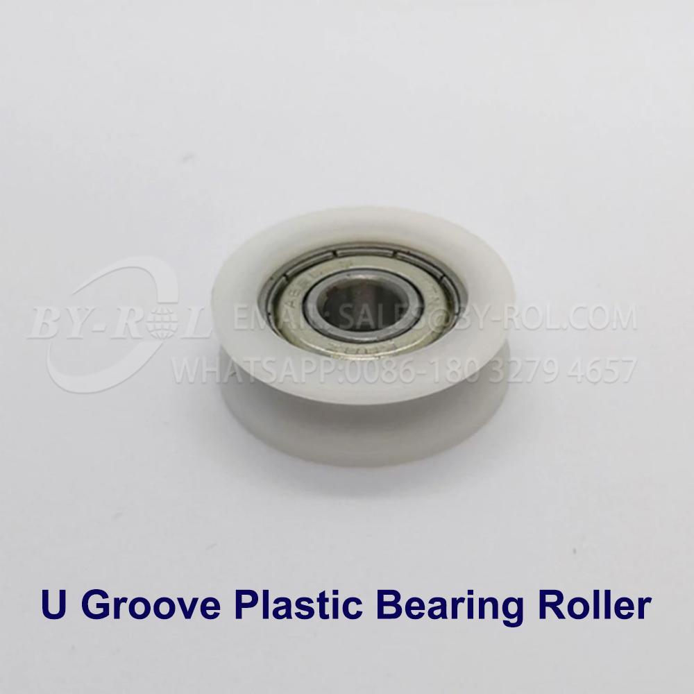 White Nylon Plastic Bearing Roller Wheel for WIndow and Door Rollers 5