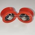 Hot Sale V Groove Orange Plastic Window and Door Roller Wheels Customized