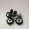 hot products nylon coated sliding gate pulley roller wheels 608zz