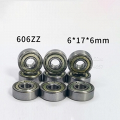High Chrome/Carbon Steel Miniature Deep Groove Ball Bearing 606zz for Skating