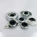 Mower Use Stamping Roller Wheel Bearing in Iron with Zinc Plating