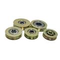 U Groove Metal Pulley Wheel with Color Zinc Plating