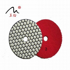 (leval A) 3 Inch Diamond Flexible Dry Polishing Pad for Grinding Stone