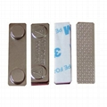 45 x 13 x 5 Nickel Coating Magnetic Badge Holder with Double-Sided Foam Tape