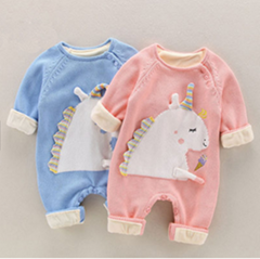 Wholesale 100% cotton baby clothes warm cute soft stylish newborn winter baby ro