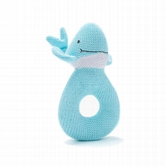 2020 4item blue newborn soft gift set cute dolphin doll and baby square gift box