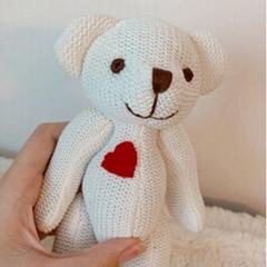 Bear Dolls Bear OEM Wedding Dolls Baby Birthday Gift Brinquedos Knit Soft Animal