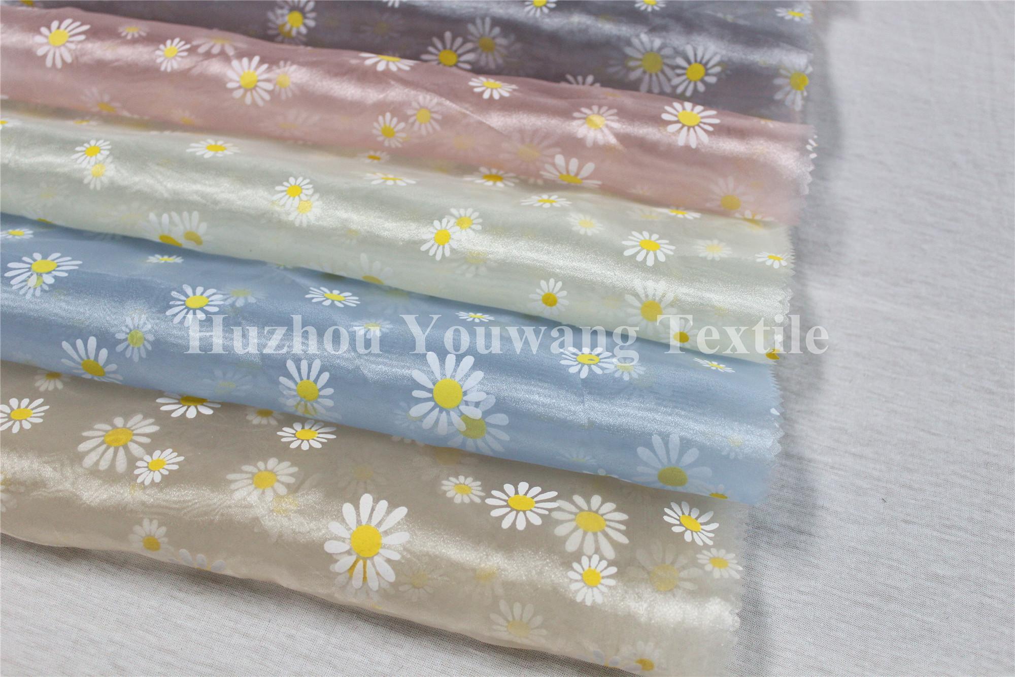 Printed Crystal Organza Fabric 1