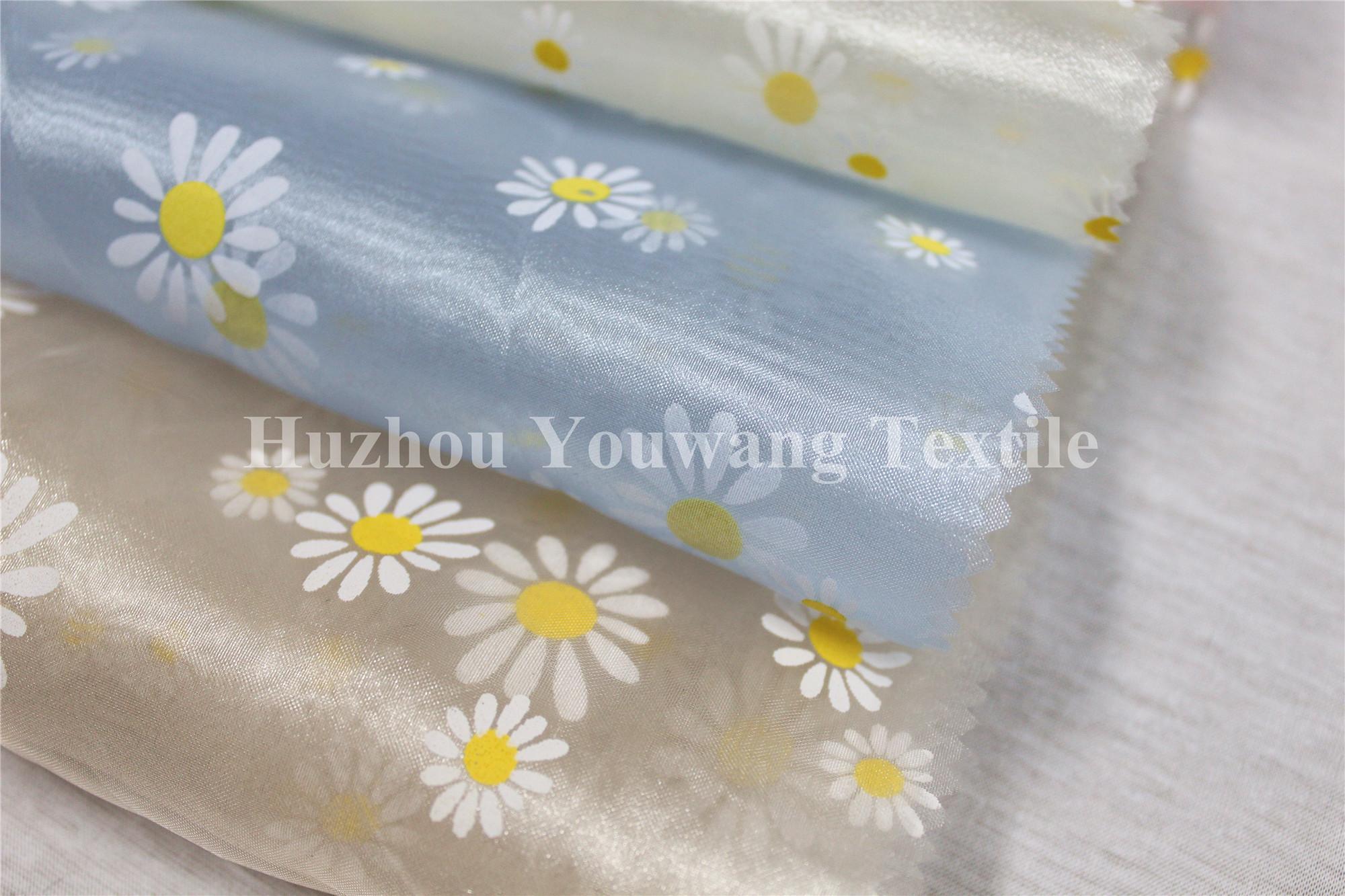 Printed Crystal Organza Fabric 3