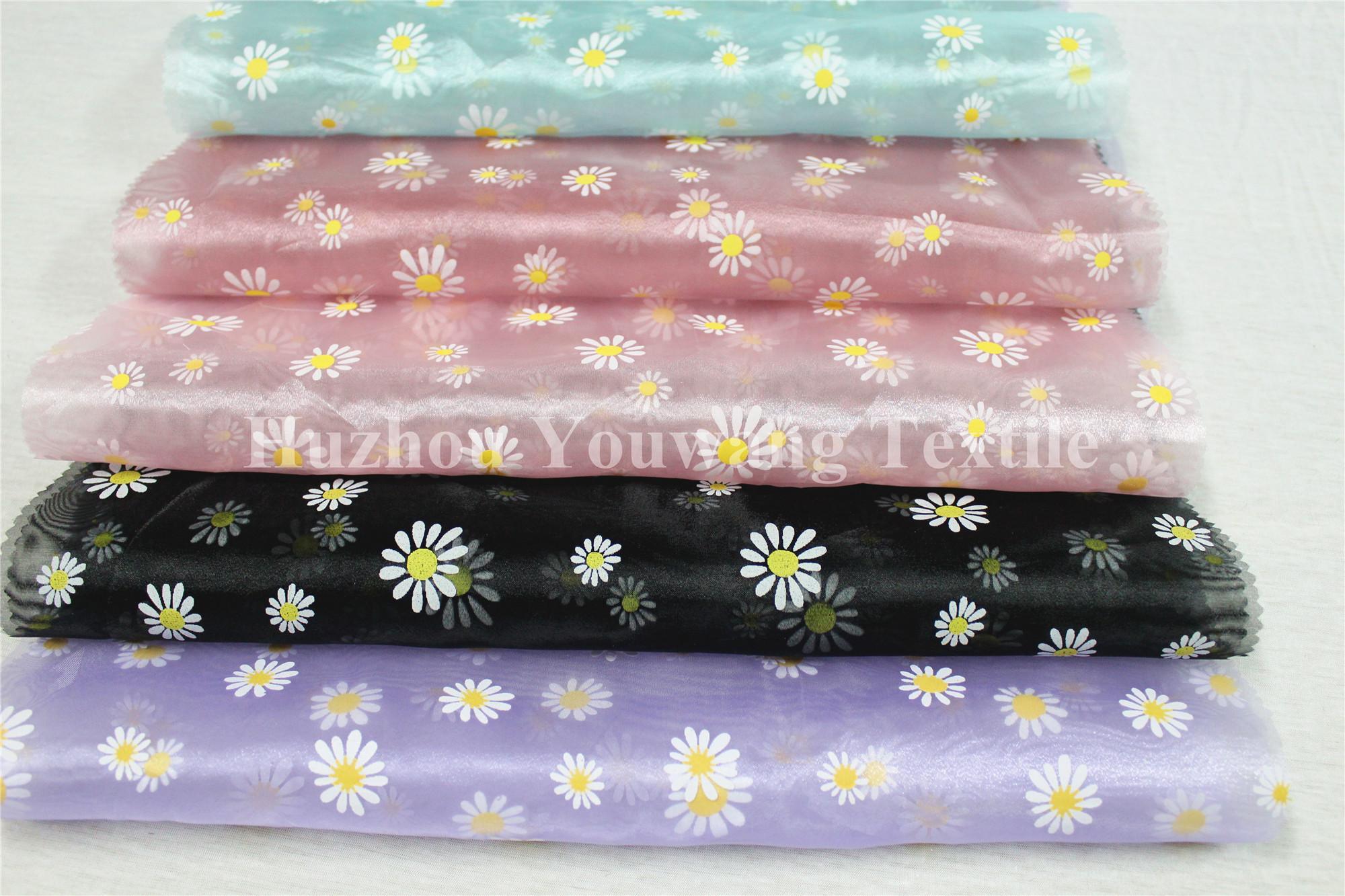Printed Crystal Organza Fabric 4