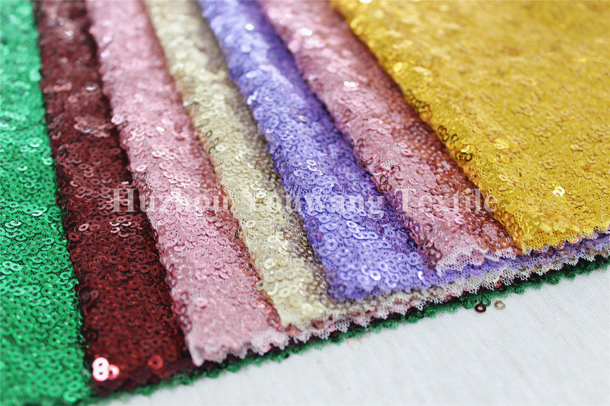 Knitted Sequins' Wedding Dress Fabric 2