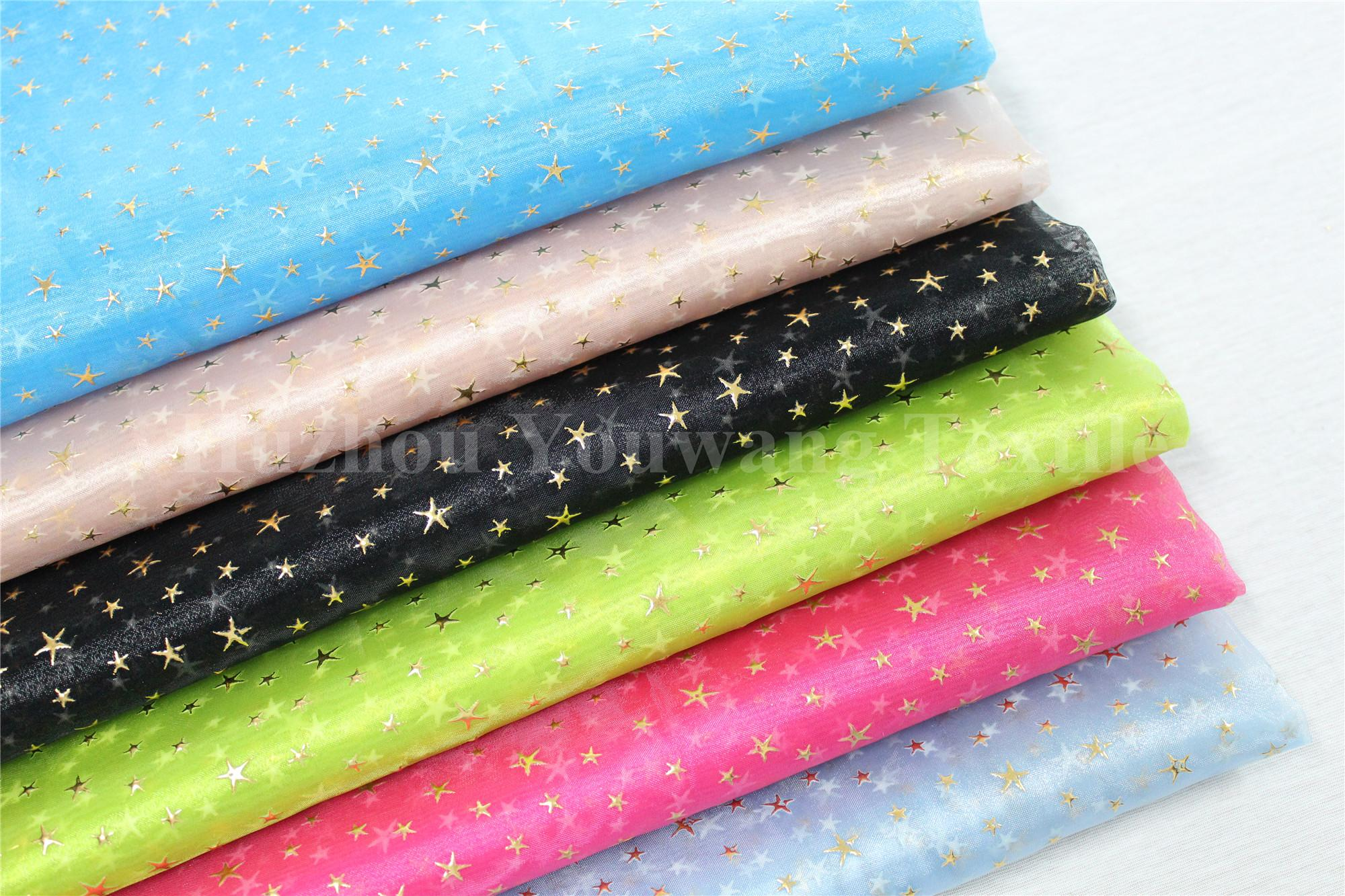 Star Design Crystal Organza Fabric 1