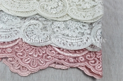 Embroidered Tull Mesh Fabric for Wedding