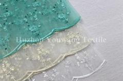 Embroidered Organza Fabric