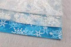 Snowflake Design Glitter Organza Fabric
