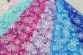 Snowflake Design Glitter Organza Fabric 2