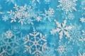 Snowflake Design Glitter Organza Fabric 4