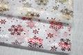 Printed Snowflake Design Snow Organza Fabric